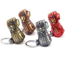 New Avengers Thanos Hammerhead Key chain ultimate Game infinite Power Glove Hammer male and female car keyring