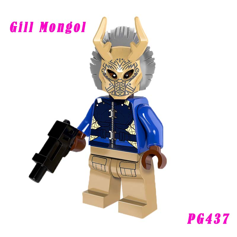 Gill Mongol Action Figure Super Heroes Outrider Lobo Boomerang Cheetah Black Panther Building Block Toys For