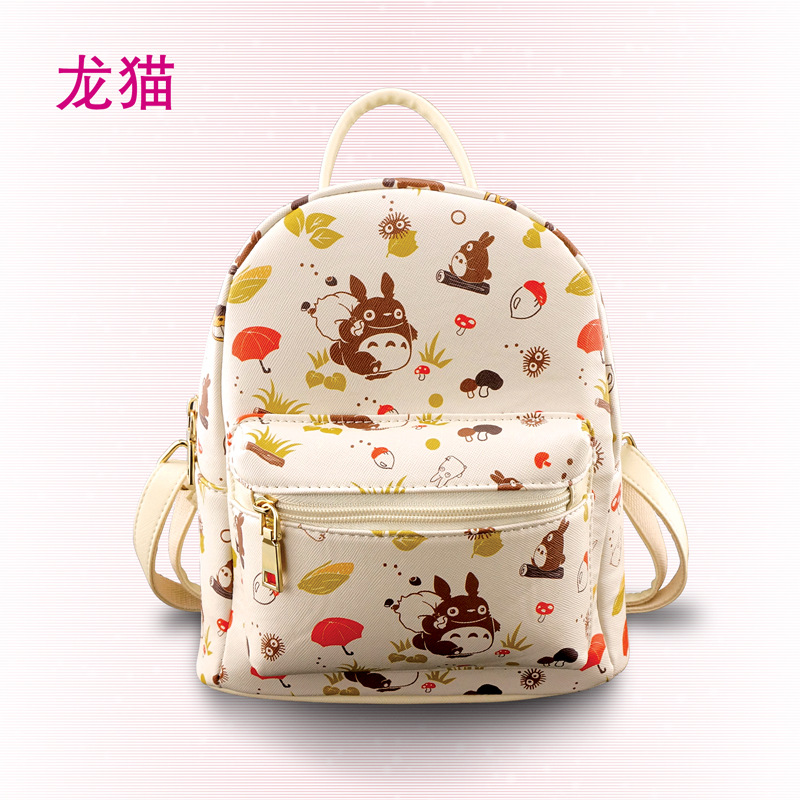 Kawaii New Designed Anime Backpack For Girls Ladies Neko Atsume/ Natsume Yuujinchou/totoro  Backpack Mini Lovely Backpack Ac250