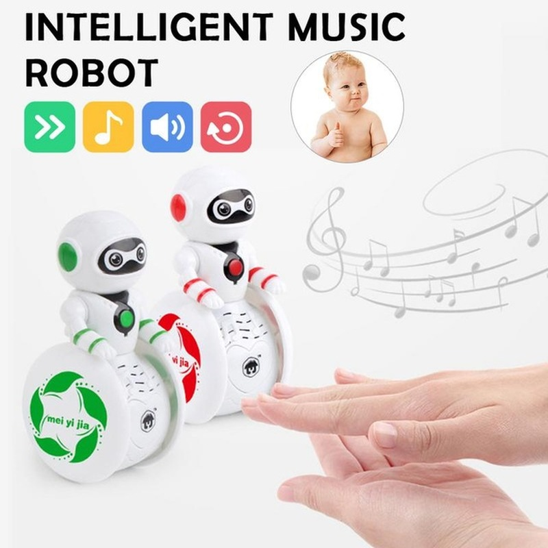 Baby Toys With Sound And Light Intelligent Induction Robot Tumbler Dancing Gesture Action Figure Toy Children'sl Toys Gifts