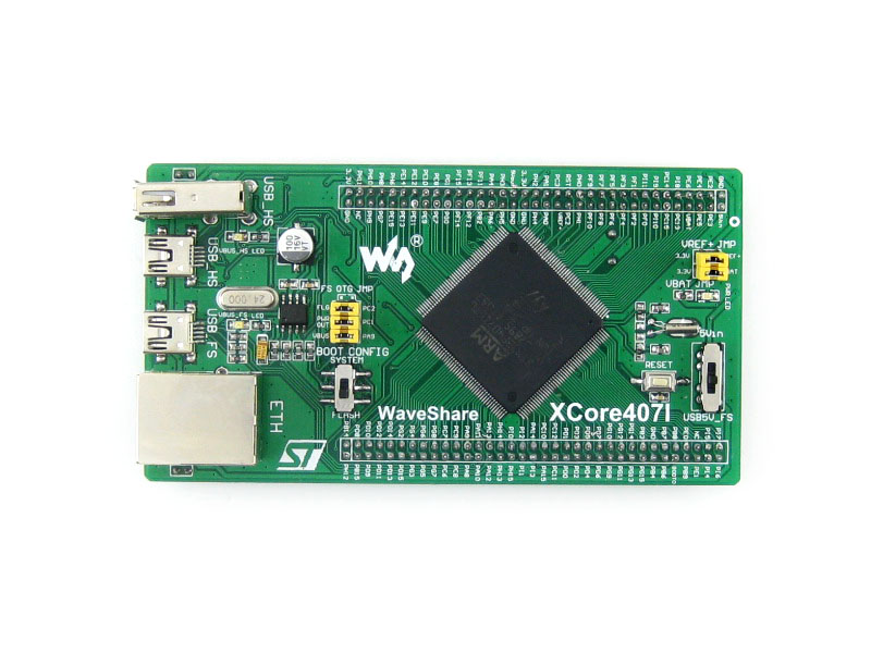 STM32F407IGT6 STM32 Cortex-M4 Development Core Board IO Expander With Onboard NandFlash USB HS/FS Port Ethernet RJ45=XCore407I