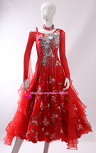 Standard Ballroom Dance Dress Women New Arrival Long Sleeve Red Competition Tango Waltz Ballroom Dancing Dresses