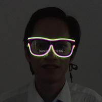 Quality Fashion Top El Wire Neon LED Light Up Shutter New Arrival Glow Glasses Rave Costume