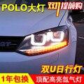 Новый Автомобиль Стайлинг фар VW POLO Volks Wagen ПОЛО GTI СВЕТОДИОДНЫЕ фар Автомобиля ангел глаз сид drl H7 hid Би-Ксеноновые Линзы низкой луч