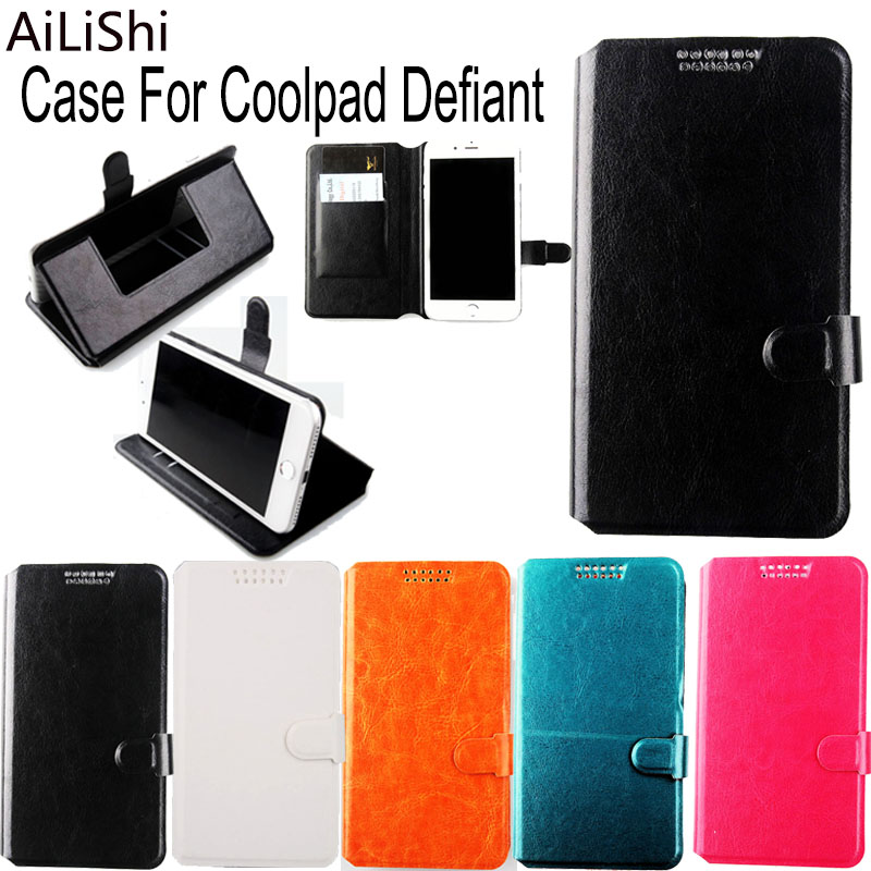 AiLiShi Factory Direct! 5 Colors Case For Coolpad Defiant Dedicated PU Leather Case Exclusive 100% Holder Card Slot +Tracking