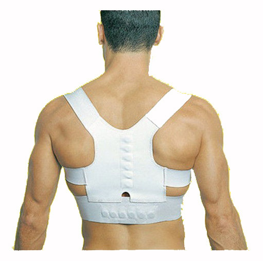 2015 Médicos orthosis corset back brace corrección de la postura hombro brace deporte postura magnética superior Protecciones para espalda corrector