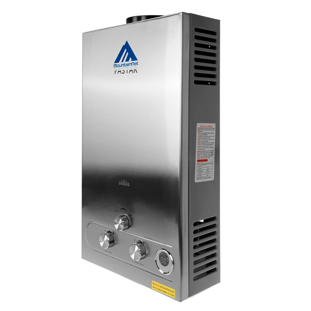 Ship from US) 12 Liter Hot Water Heater Shower With LCD Display ...