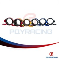 PQY RACING Free Shipping Dual Double Or Twin 044 Fuel Pump Bracket Billet Clamp Cradle Fuel