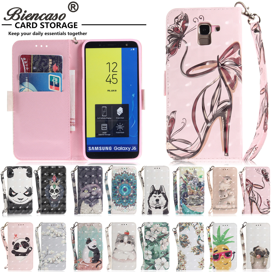 Flip Leather Phone <font><b>Case</b></font> For <font><b>Samsung</b></font> Galaxy J3 J4 Prime J6 J8 J5 J7 Pro 2017 S9 Plus A8 A6 <font><b>A7</b></font> A9 <font><b>2018</b></font> Wallet Card Slots Cover B42 image