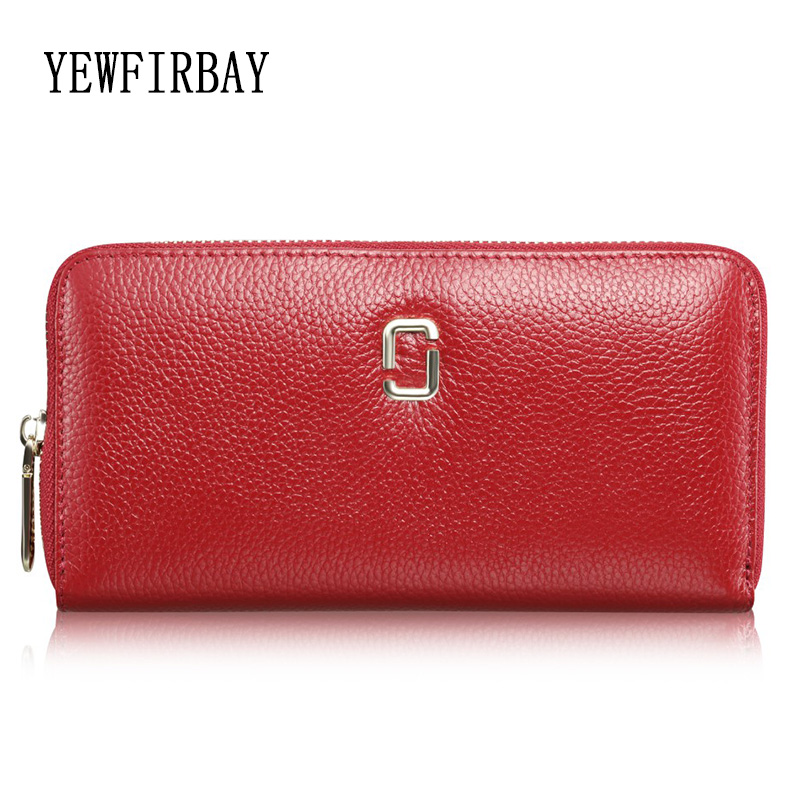 YEWFIRBAY brand women wallets new fashion purse ladies cards holders genuine leather wallet coin purses girl