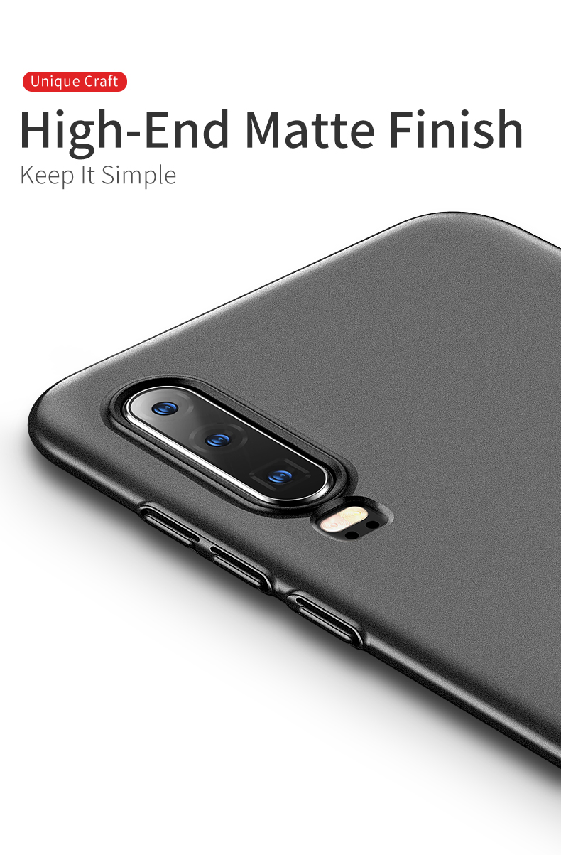 Huawei P30 Case for Huawei P30 Pro Case Hard P30 Lite Cover Slim Matte Back Cover Fingerprint Proof Fundas (6)