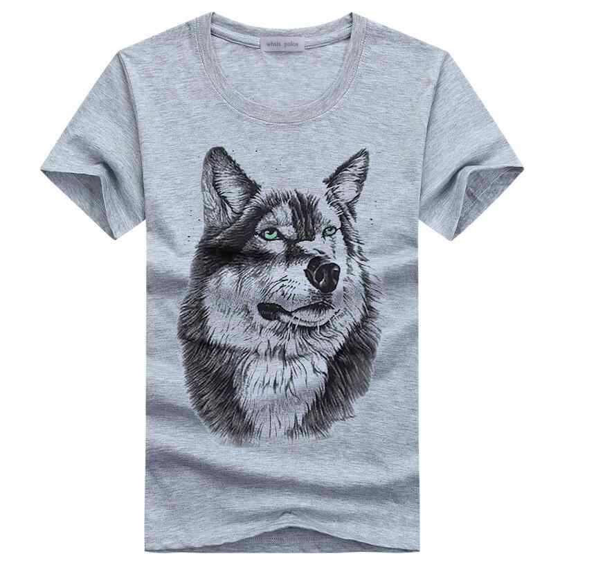Men Summer Custom DOG /Owl/Wolf/Cat Design T Shirt Men's Watercolor Animal Graphics Printed Tops Hipster Tee Shirts Size 5XL