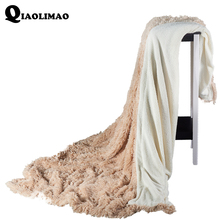 Fleece Blankets On The Sofa/Bed Plush Bedspread Mantas E Cobertor De Casal Children Blanket Winter Warm Velvet Mink