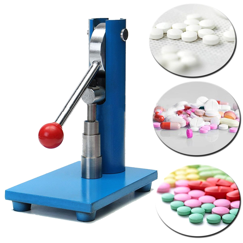 6mm Tablet Press Machine Manual Powder Hand Pressing Pill Making Home Lab Use Hand Punch Tablet Press Medicine Pill Maker Cutter mold die for tablet press machine female celestial stamp customized punch tablet press tool