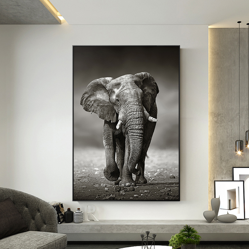 New Arrival! Animal HD Elephant Canvas Painting Posters ...