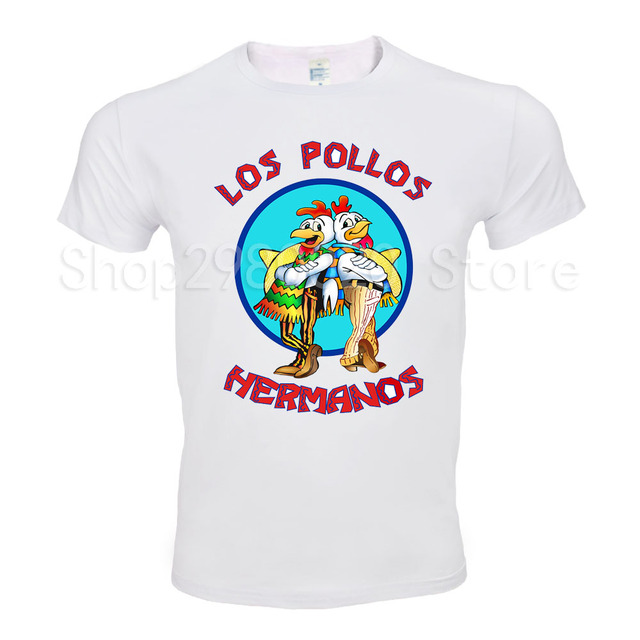 871a674b Men's Fashion Breaking Bad Shirt 2018 LOS POLLOS Hermanos T Shirt Chicken  Brothers Short Sleeve Tee Hipster Hot Sale Tops