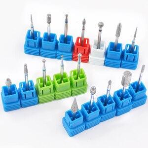 Image 2 - 1 sztuk wiertła z węglika wolframu Nail Art 17 rodzaje 3/32 frezowanie Manicure frez do Pedicure urządzenie elektryczne obrabiarki gratowania