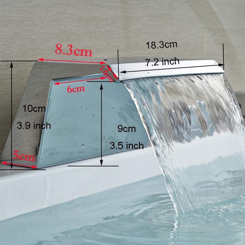 Support de pont cascade bassin robinet bec robinet accessoires baignoire baignoire remplissage bec Chrome finition WF09Support de pont cascade bassin robinet bec robinet accessoires baignoire baignoire remplissage bec Chrome finition WF09