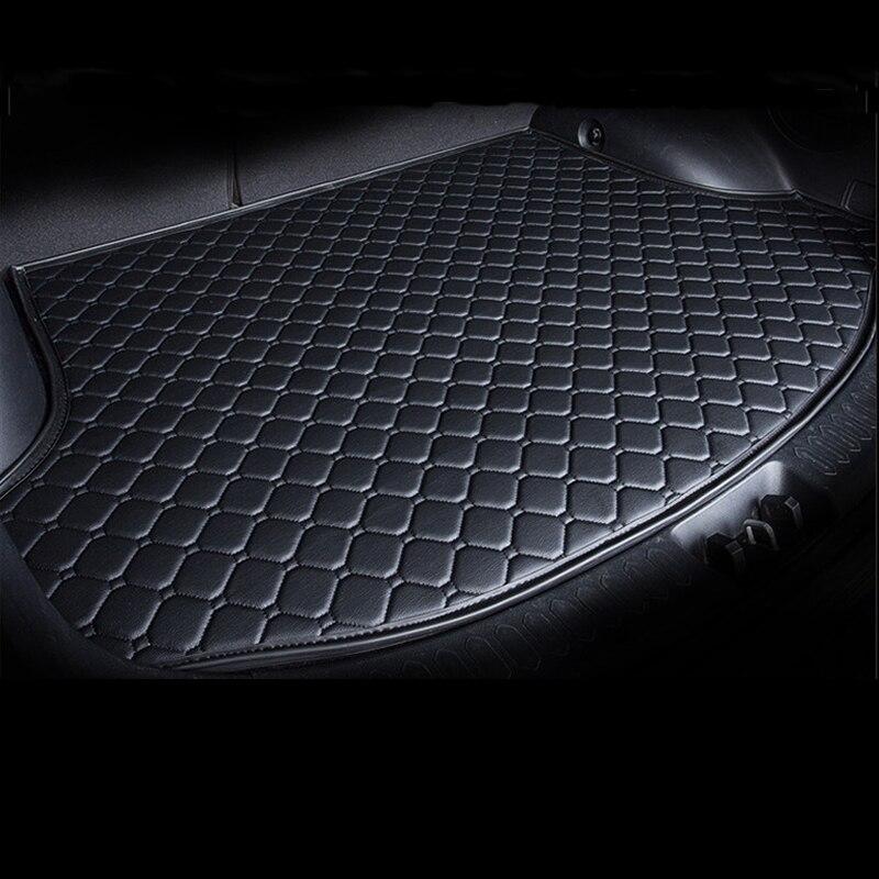 Tapis de coffre de doublure de cargaison en cuir sur mesure pour Mini 2/4 portes Clubman Countryman tapis de protection de boue arrière plateau de plancher de bagages JH03