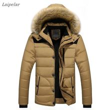 High Quality Men Down Jacket Brand Clothing Casual Warm Hooded Fur Collar Coats Winter Jackets PARKAS Laipelar 10pcs lot obd2 connector cable for fiat 3pin to 16pin for fiat 3pin to 16pin alfa lancia for fiat cars car diagnotsic cable