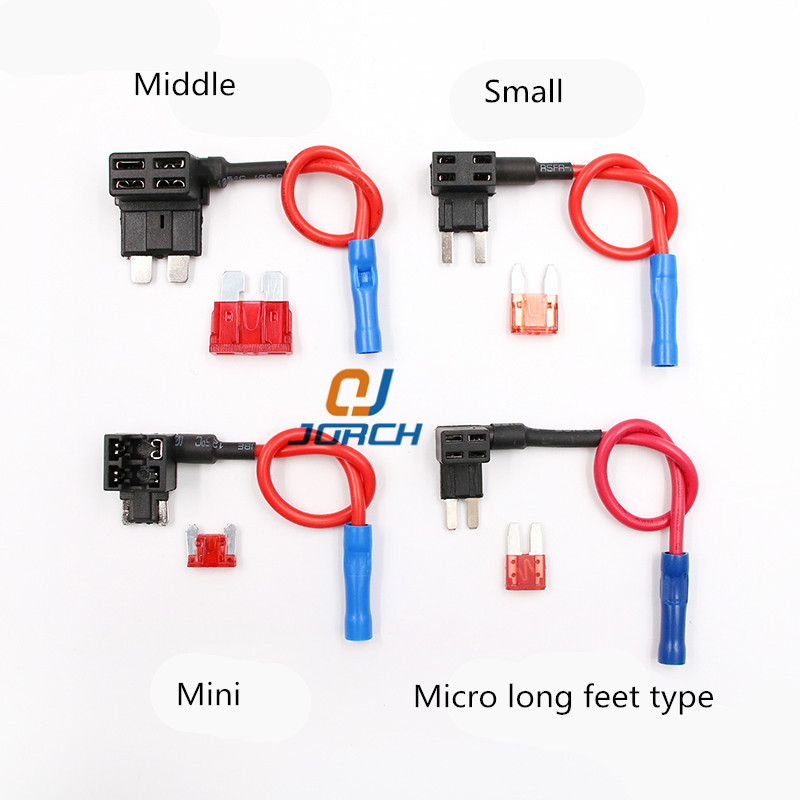 M/S/Mini ATM Auto <font><b>Fuse</b></font> Adapter <font><b>tap</b></font> Dual Circuit Adapter Holder For <font><b>Car</b></font> Auto Truck with Blade Auto <font><b>Fuse</b></font> image