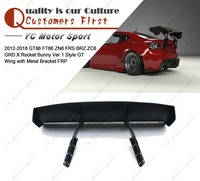FRP Fiber Glass GRD X Rocket Bunny Ver.1 Style GT Wing with Metal Bracket Fit For 12 18 GT86 FT86 ZN6 FRS BRZ ZC6 Rear Spoiler