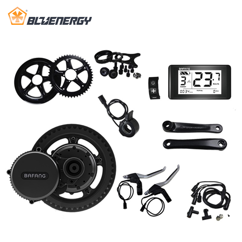 8fun bafang 48V 750W BBS BBS02 BBS02B Mid Drive Motor Ebike Conversion Kits For Electric Bike Middle Engine Kit With Display free shipping 36v500w 8fun bafang bbs02b ebike electric bicycle motor 8fun mid drive electric bike conversion kit