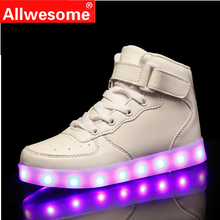 2019 Kids Led Usb Charging Shoes Glowing Sneakers Children Hook Loop  Luminous Shoes for Girls Boys Men Women Skate LED Shoes kids shoes led glowing sneakers children 7 colors light up luminous sole girls boys casual shoes kids usb charging sneakers
