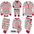 Fashion mens christmas pajamas women pant tshirt set mother daughter pajamas family matching christmas sweaters