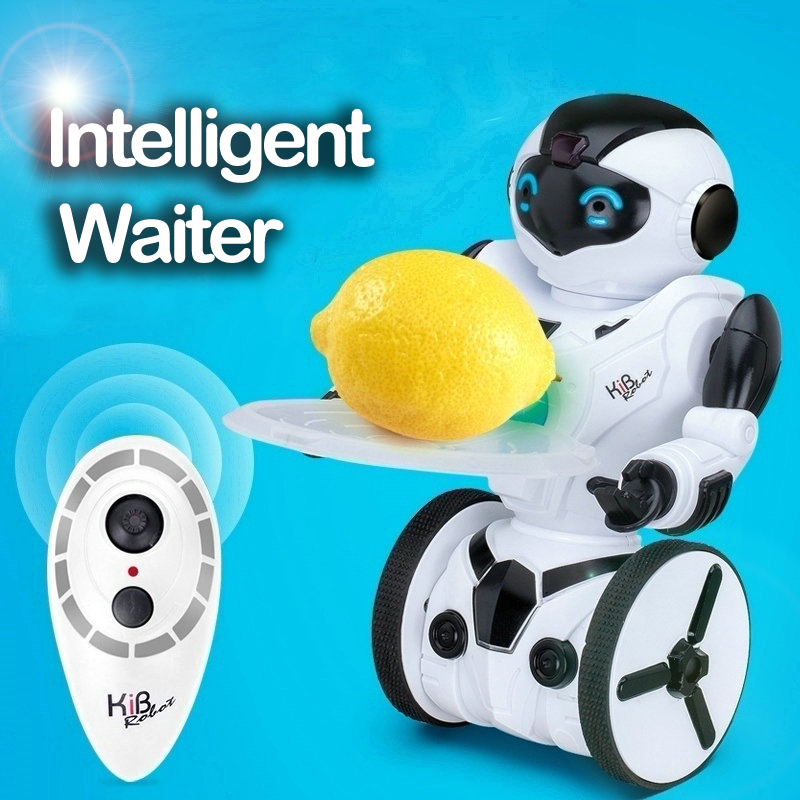 RC Robots Kib Self Balancing Tumbler Robot Intelligent Balance Wheelbarrow Remote Control Toy