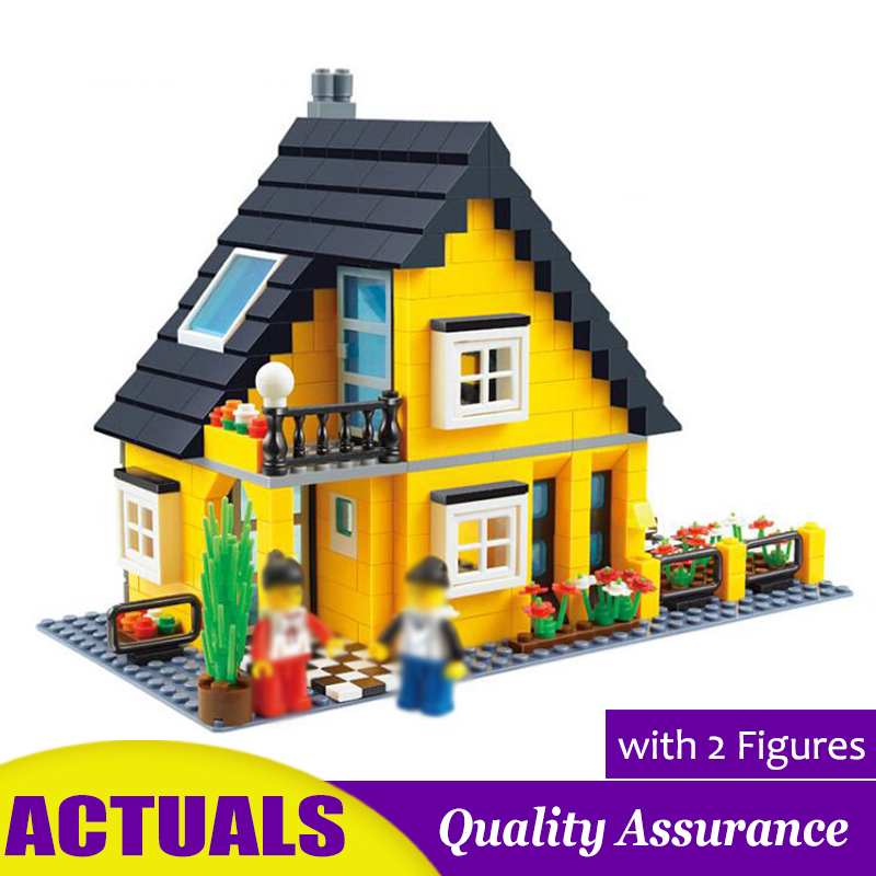 458pcs Villa Building Blocks Wange 32052 Compatible Lego House