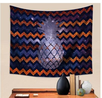 Nordic pineapple tapestry background cloth wall hanging curtain tablecloth Throw Rug Blanket Camping Tent