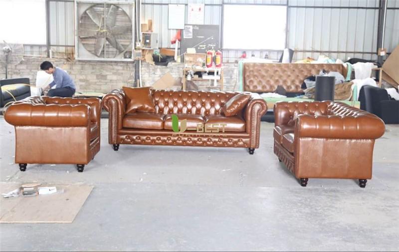 chestersfield sofa real leather sofa  (1)