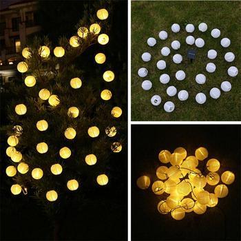 Kaigelin 30 LED Solar String Lights Lantern Ball Outdoor Lighting Solar Lamp Fairy Globe Christmas Decor Light for Party Holiday 4