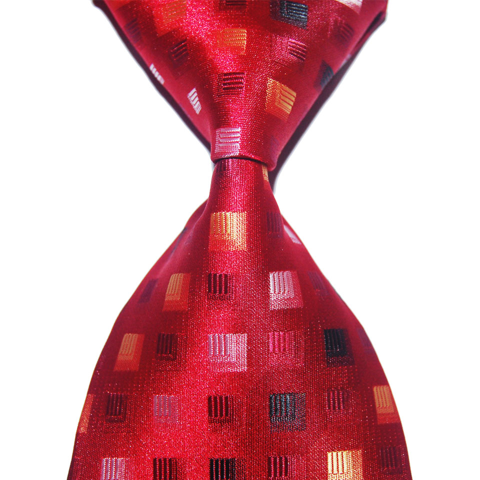Classic Plaid Tie Dot Silk Necktie Gift For Men 10cm Width Fashion Jacquard Woven Formal Wear Business Wedding Party Christmas
