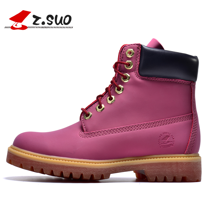 Z. Suo  Fashion Autumn Winter Leather Women Boots New Fashion Retro, Cool Autumn And Winter Boots Martin. Botas De Mujer  D30 z suo brand new winter women motocycle boots leather lace up ankle martin boots shoes black brown high quality