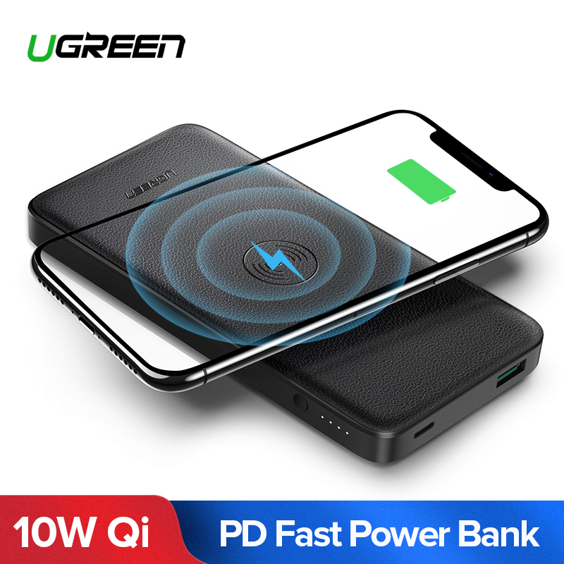 Ugreen 10000Mah Qi Wi-fi Charger Energy Financial institution 18W Usb Pd Powerbank For Iphone X eight Macbook Samsung S9 Exterior Battery Poverbank