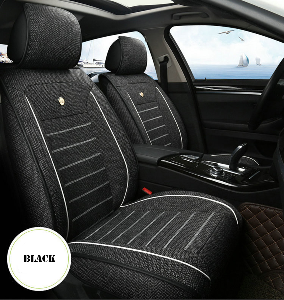 faux leather CM-B Black Universal Car Seat Covers Set for FIAT SEICENTO
