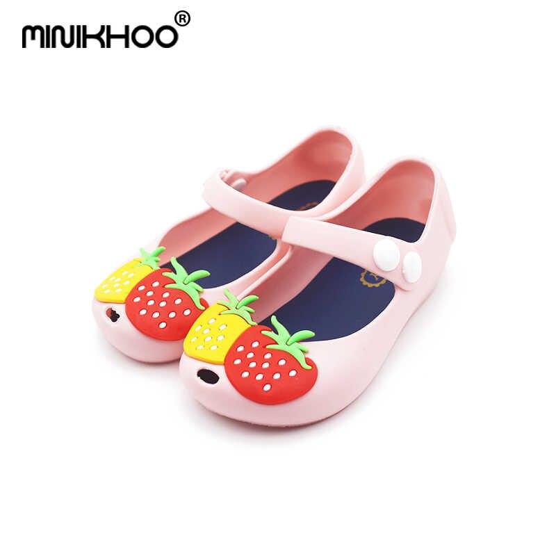 4808f2f7f84 Mini Melissa 2018 nueva chica de verano sandalias de gelatina de nieve  blanco niños zapatos de