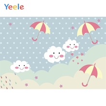 Yeele Baby Bedhead Wallpaper Cartoon Clever Cloud Photography Backdrop Personalized Photographic Backgrounds For Photo Studio