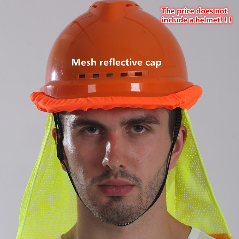 Reflective Screen Cloth Cap, Helmet Bird 's-eye Cloth To Cover, Sun Block Neck, Is Applicable To Construction Workers