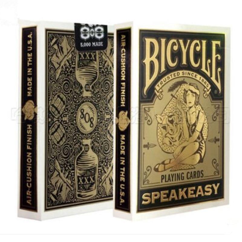 شحن مجاني الولايات المتحدة بار بوكر دراجة speakeasy بطاقة اللعب الأصلي استيراد ماجيك سطح السحر الدعائم الخدع PLC-086
