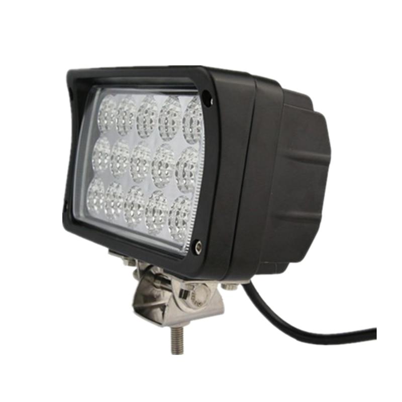 ФОТО 45W 6.3 inch LED Work Light Lamp Moyor Car Truck ATV SUV LED Ligths For Car 4X4 Offroad Light 4WD Spot Flood Beam Car Styling
