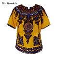 (Transporte rápido) 2016 New Arrival Projeto Africano Dashiki Vestidos Vestido Estampado Tradicional 100% Algodão Para Homens E Mulheres Por Atacado