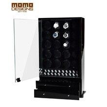 Эксклюзивная шкатулка для часов 20 автоматические часы шкаф дисплей часы Сейф со стеклянной дверью/с ящиком для хранения ювелирных изделий