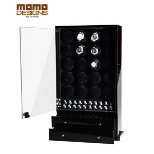 Watch Winder Automatic with Glass Door/with Jewelry Storage Drawer 20 Safe Box Cabinet Display