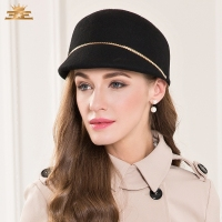 New England Winter Wool Hat Autumn Knight Cap All match Ladies Casual Fashion Woolen Hat Black Party Wear B 7520