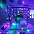 10 M 100 LEVOU ao ar livre luz Da Corda para o casamento festa de natal Fada Luz decorativa Azul/RGB/White Christmas 110 V 220 V Plugue EUUS