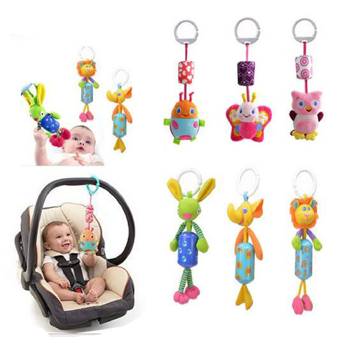 online get cheap modern baby mobile aliexpresscom  alibaba group -  cute new infant toys mobile baby plush toy bed wind chimes rattlesbell toy stroller