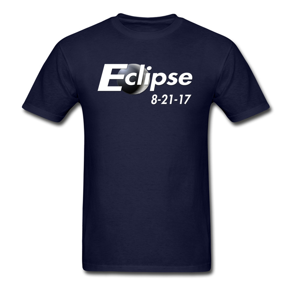 Eclipse 2017 100% Cotton T-Shirt for Men Short Sleeve Crazy Tops Shirts Classic Thanksgiving Day O Neck Sweatshirts Summer